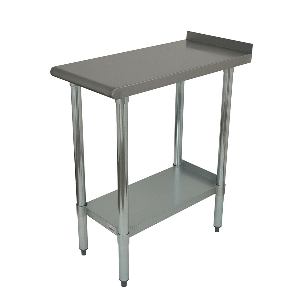 Advance Tabco FT-3015 Economy Equipment Filler Table - Galvanized Legs, Undershelf, 15x30
