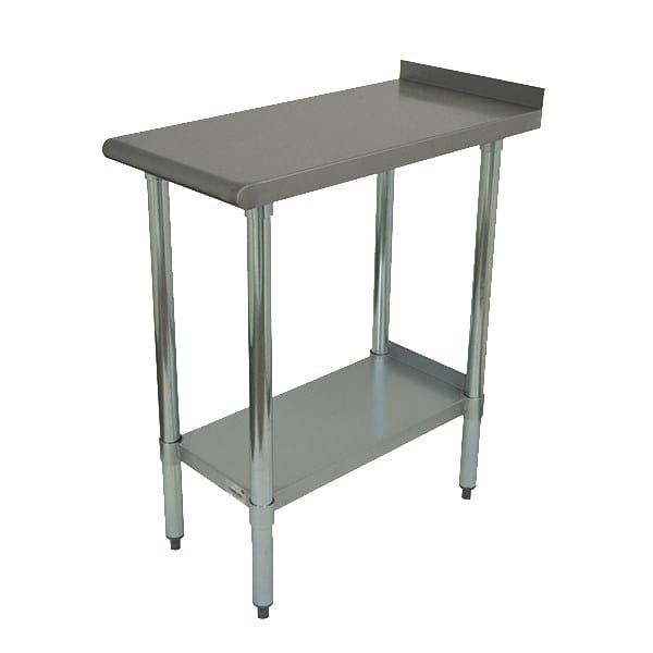 "Advance Tabco FT-3024 Equipment Filler Table w/ Undershelf - 24"" x 30"", 18 ga Stainless Steel"