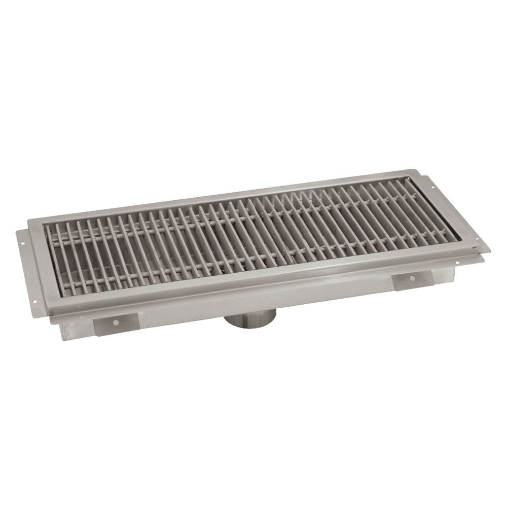"Advance Tabco FTG-1224 Floor Trough - Removable Strainer Basket, 12x24x4"", 14 ga 304 Stainless"