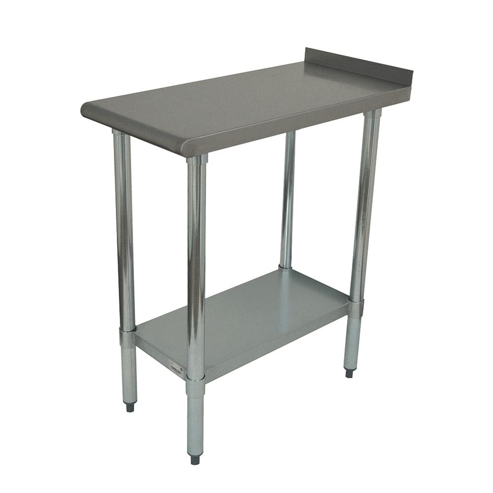 "Advance Tabco FTS-3018 Equipment Filler Table w/ Undershelf - 18"" x 30"", 18 ga Stainless Steel"