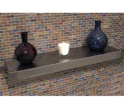 """Advance Tabco FWS24RE Residential Floating Wall Shelf - Concealed Bracket, 10x24"""", Stainless"""