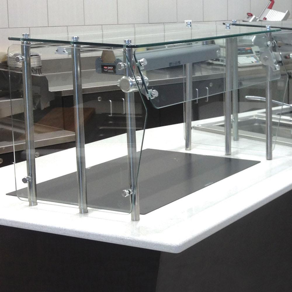 Advance Tabco GSG-12-72 Self Service Shield - Heat Tempered Glass Top Shelf, Side Panels, 12x72x18
