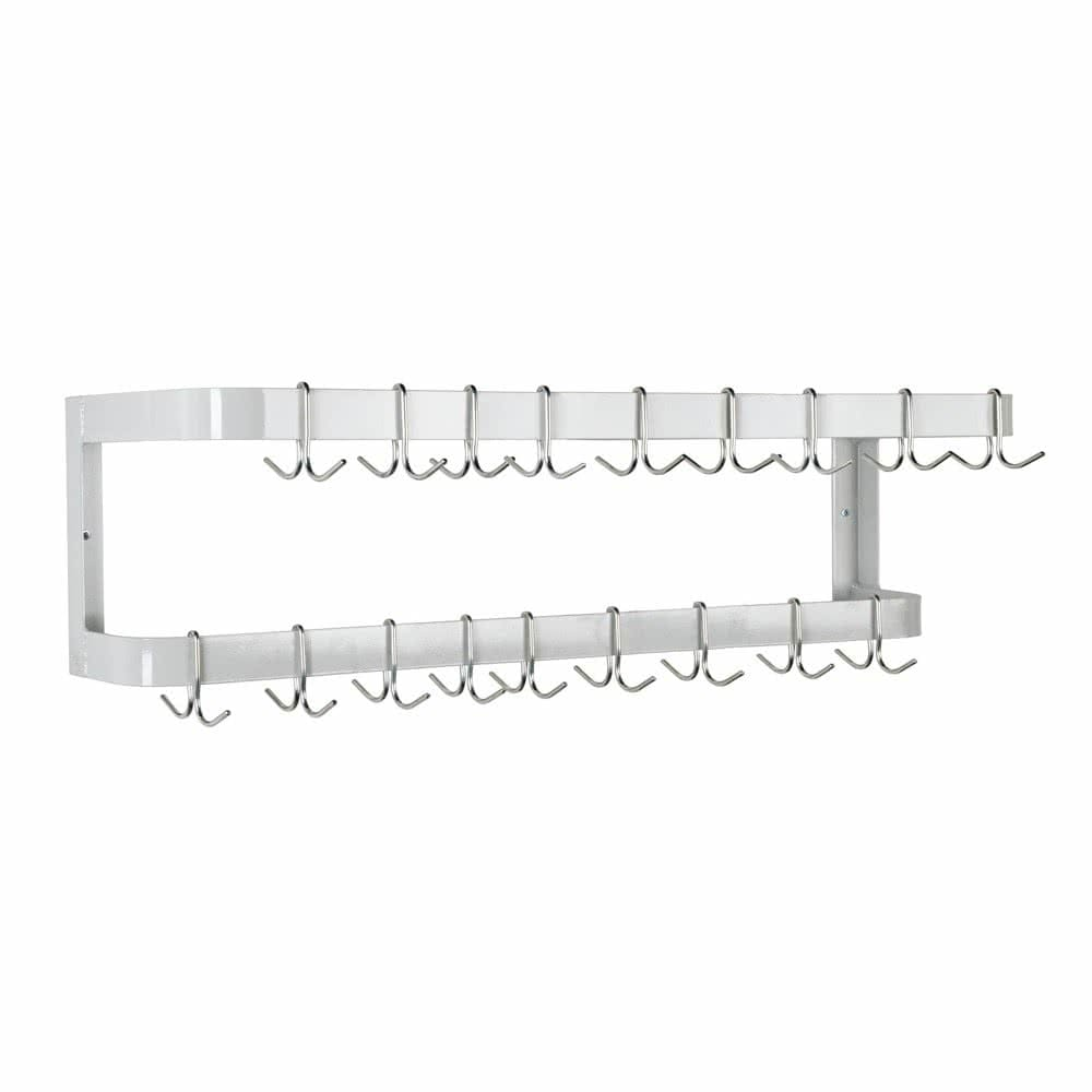 "Advance Tabco GW-72 72"" Wall-Mount Pot Rack w/ (18) Double Hooks, Steel"