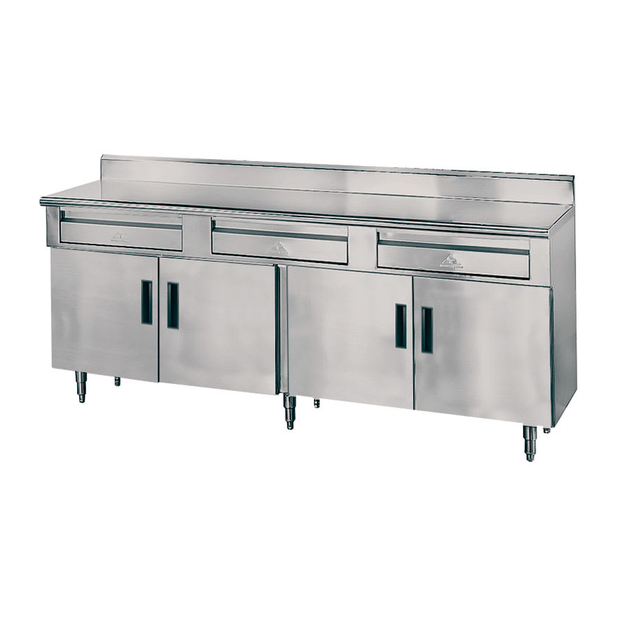 """Advance Tabco HDRC-306 72"""" x 30"""" Stationary Equipment Stand for General Use, Cabinet Base"""
