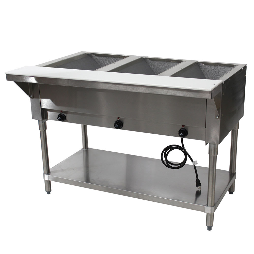 "Advance Tabco HF-3E-240 47.13"" Steamtable Hot Food Unit w/ (3) Wells & Carving Board, 208 240v/1ph"