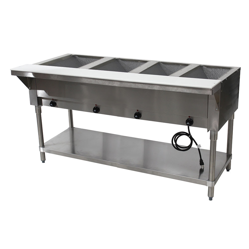 "Advance Tabco HF-4E-240-X 62.38"" Steamtable Hot Food Unit w/ (4) Wells & Carving Board, 208-240v/1ph"