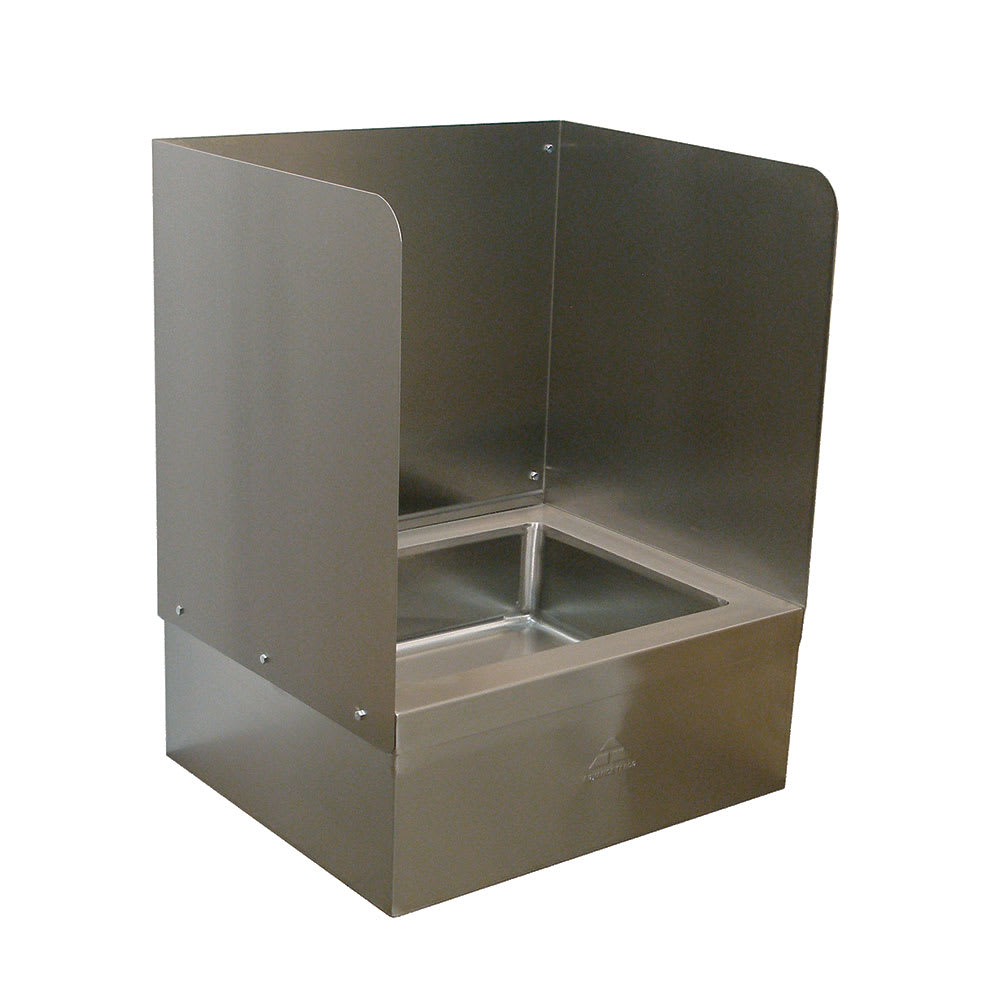 """Advance Tabco K-299 Three Sided Splash for 9OP28/48 Mop Sink, Extends 16"""" Above The Sink"""
