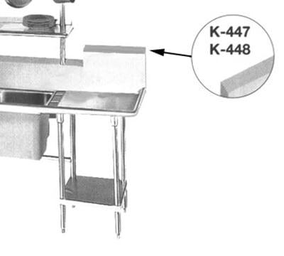 Advance Tabco K-447 High Backsplash, Up To 18 inch,