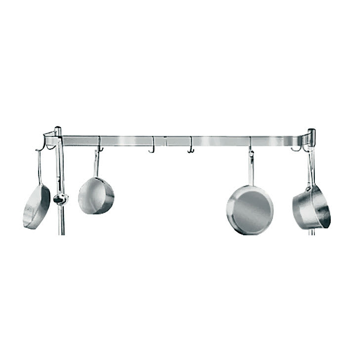 Advance Tabco K-499 Pot Rack w/ Double Hooks - Per Linear Foot, Stainless Steel