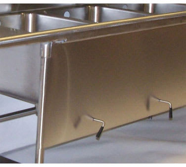 Advance Tabco K-500A Apron With Lever Drain Support Holes, Cover Sink Bowls, Stainless Steel