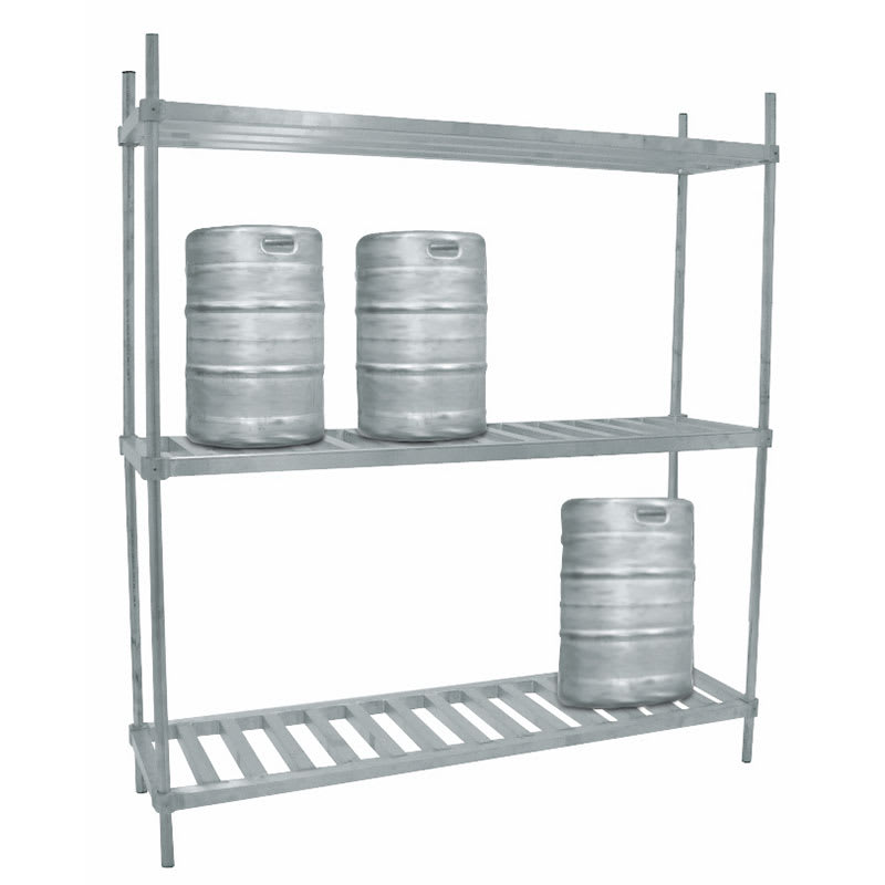 "Advance Tabco KR-60 (3) Level Keg Rack w/ (6) Keg Capacity, 60"" x 20"" x 76"""