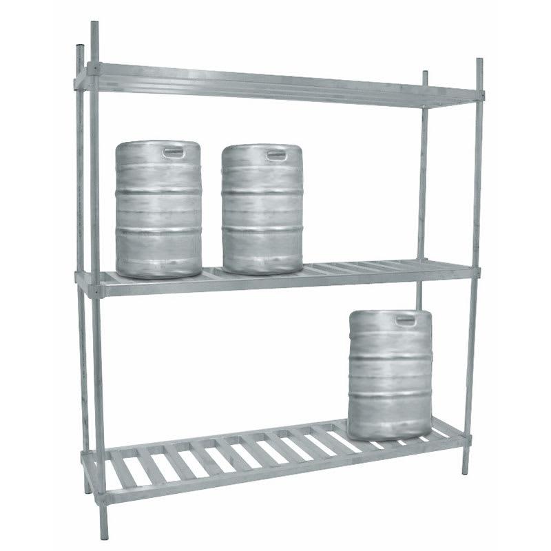 "Advance Tabco KR-80 (3) Level Keg Rack w/ (8) Keg Capacity, 80"" x 20"" x 76"""