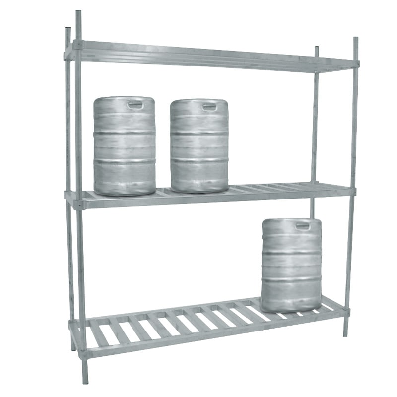 "Advance Tabco KR-93 (3) Level Keg Rack w/ (10) Keg Capacity, 93"" x 20"" x 76"""