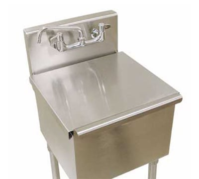 "Advance Tabco LRSC-2424RE Stainless Cover for 6-41-24RE Laundry Sink - 24x24"" Bowl"