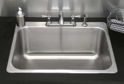 """Advance Tabco LS282014RE Laundry Room Drop-In Sink - (1) 28x20x14"""" Bowl, 16-ga Stainless"""