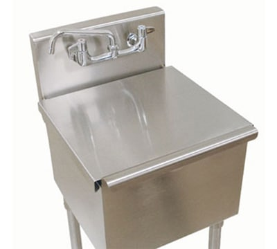 "Advance Tabco LSC-81RE Stainless Cover for 4-81-18, 6-81-18 Budget Sink - 18x18"" Bowl"