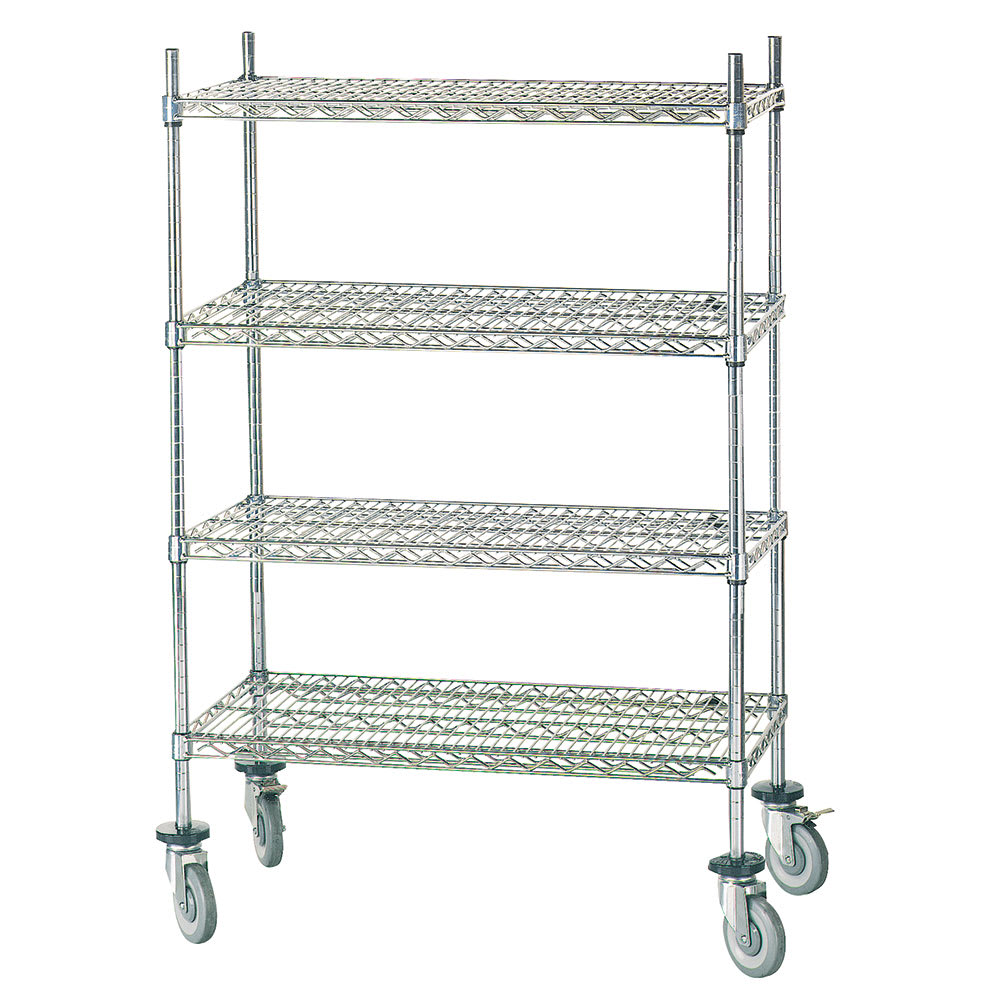Advance Tabco MC-2448P Chrome Wire Shelving Unit w/ (4) Levels, 24x48x64""