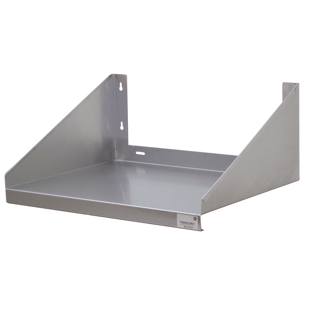 """Advance Tabco MS-18-24-EC Solid Wall Mounted Shelf, 24""""W x 18""""D, Stainless"""