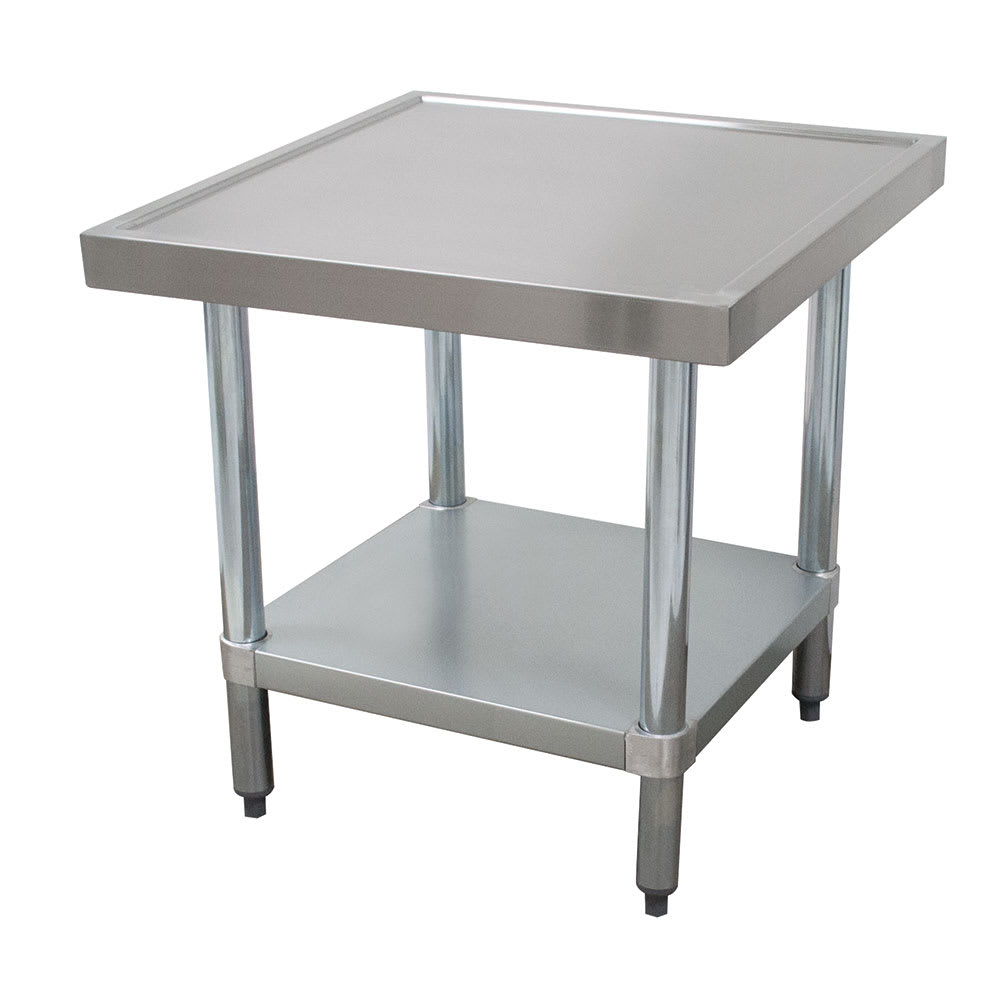 "Advance Tabco MT-GL-242 24"" Mixer Table w/ Galvanized Undershelf Base & Marine Edge, 24""D"