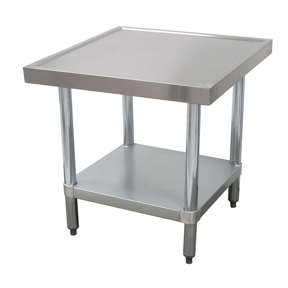 "Advance Tabco MT-GL-302 24"" Mixer Table w/ Galvanized Undershelf Base & Marine Edge, 30""D"