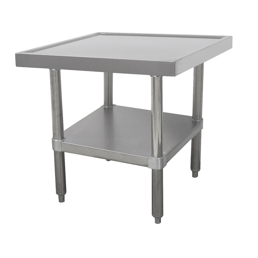 "Advance Tabco MT-SS-242 24"" Mixer Table w/ All Stainless Undershelf Base & Marine Edge, 24""D"