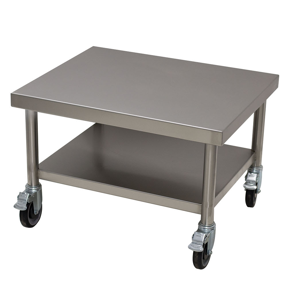 "Advance Tabco MT-SS-250C 25"" x 30"" Mobile Equipment Stand w/ Undershelf, Stainless"