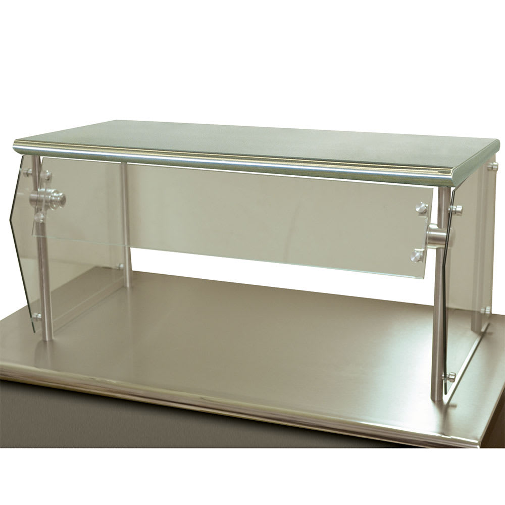 "Advance Tabco NSG-18-48 Self Service Food Shield - 1-Tier, 18x48x18"", Stainless Top Shelf"