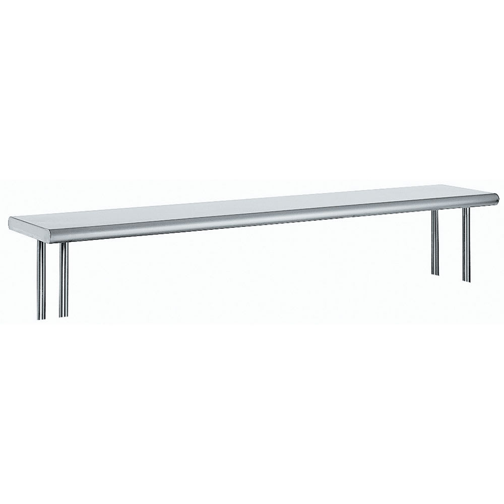 """Advance Tabco OTS-12-96R 96"""" Old Style Table Mount Shelf - 1 Deck, Rear Turn Up, 12"""" W, 18 ga 430 Stainless"""