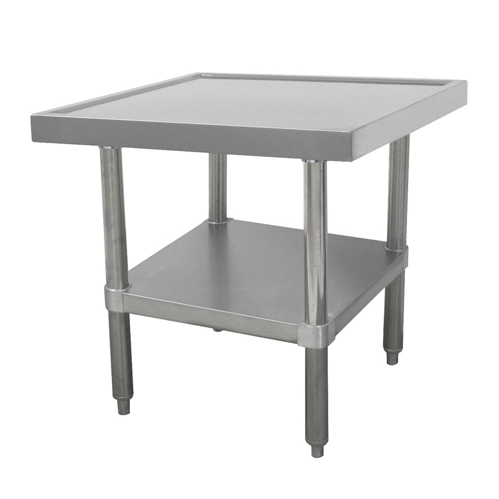 "Advance Tabco SAG-MT-302 24"" Mixer Table w/ All Stainless Undershelf Base & Marine Edge, 30""D"