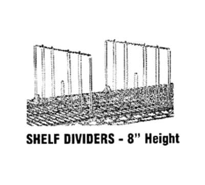 "Advance Tabco SD-14 Shelf Divider, 14"" W, 8"" H, Chrome Finish"
