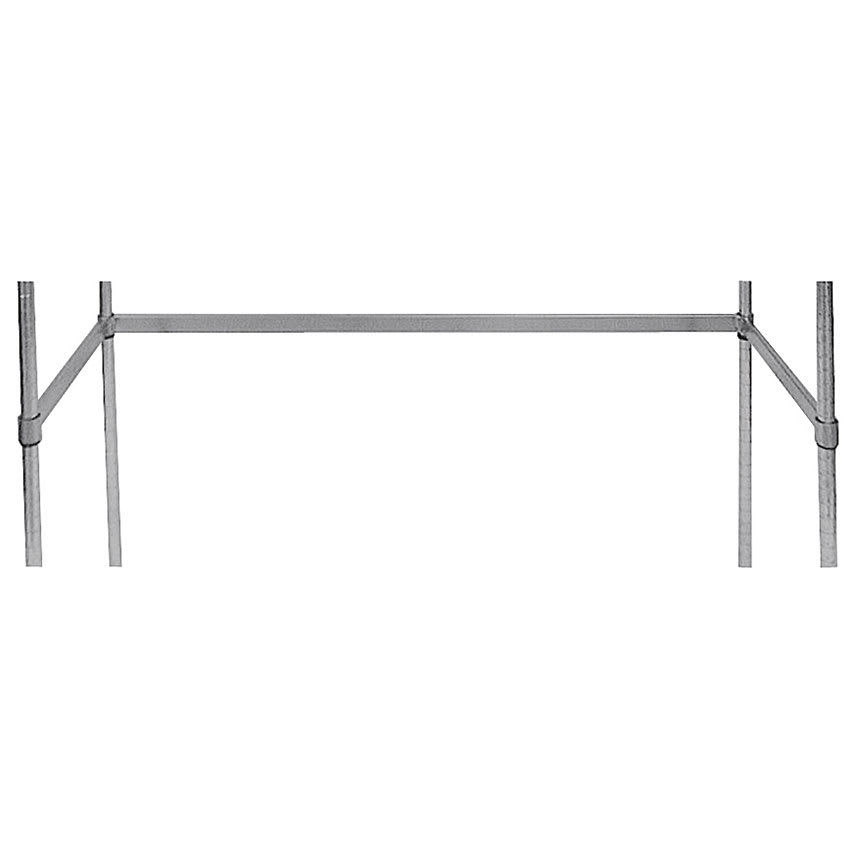 "Advance Tabco SF-1860 3 Sided Shelving Frame, 60"" x 18"", Chrome"