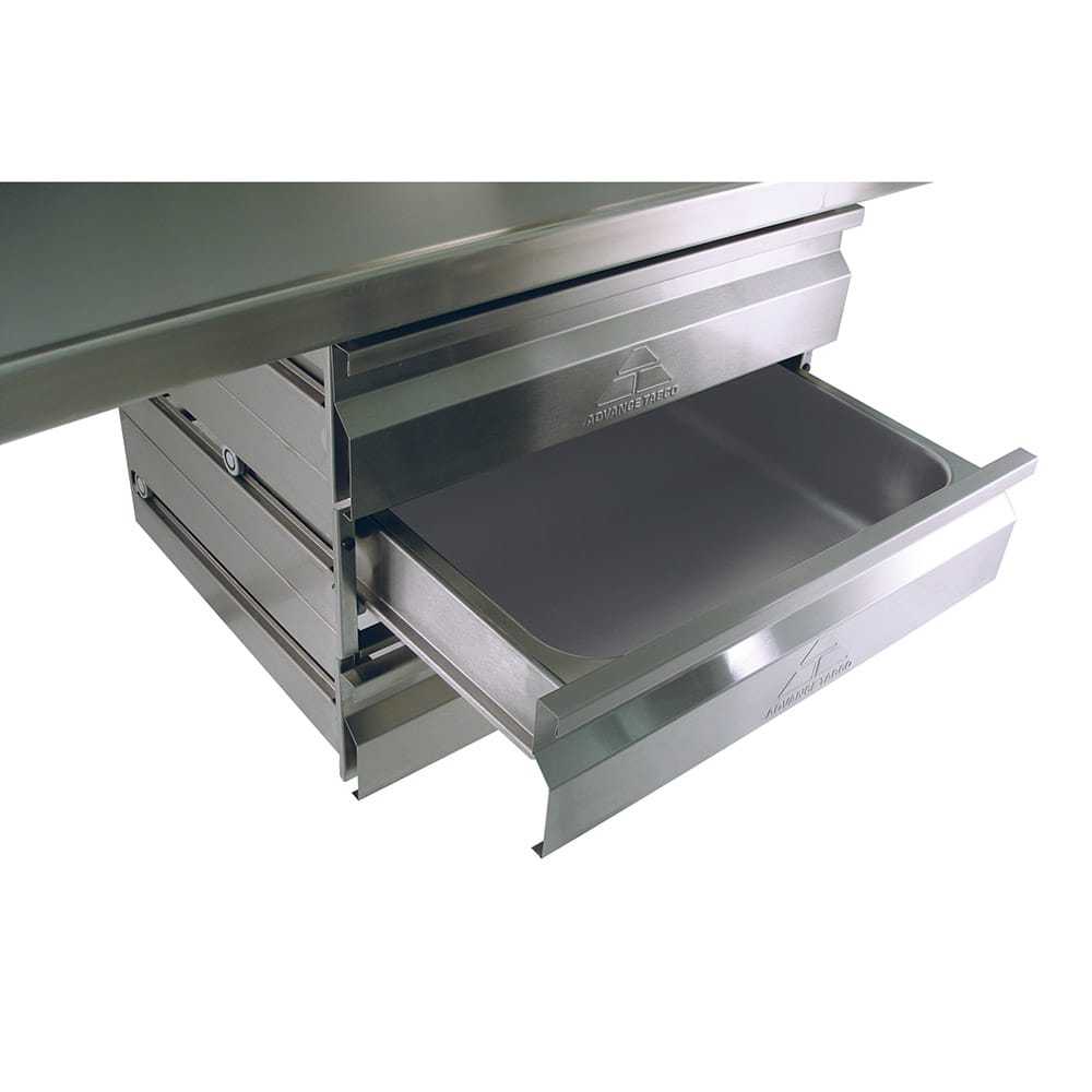 "Advance Tabco SHD-2020 Heavy Duty Drawer - Self Closing, 20x20x5"", Stainless"