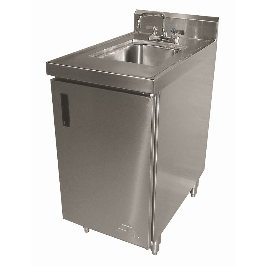 "Advance Tabco SHK-180 Cabinet Base Commercial Hand Sink w/ 14""L x 10""W x 10""D Bowl"