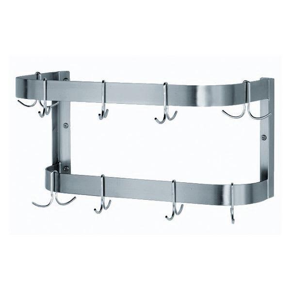 """Advance Tabco SW-36-EC 36"""" Wall-Mount Pot Rack w/ (12) Double Hooks, Stainless Steel"""