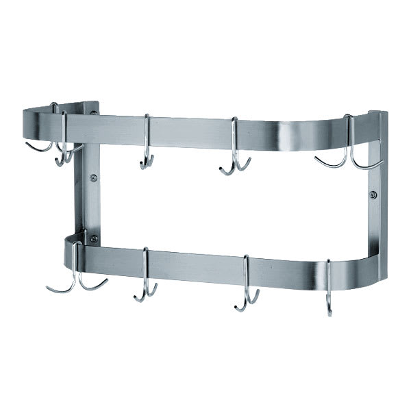 "Advance Tabco SW-72-EC 72"" Wall-Mount Pot Rack w/ (18) Double Hooks, Stainless Steel"