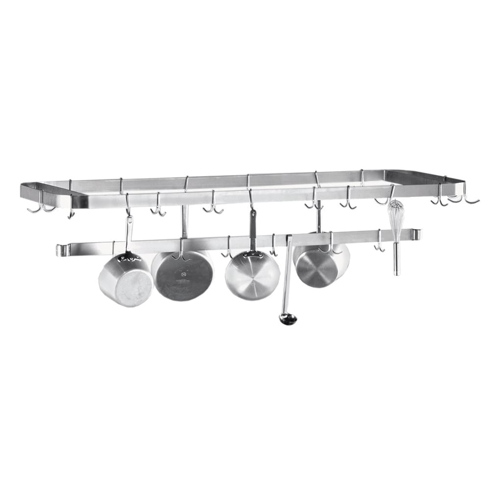 "Advance Tabco SWT-96 96"" Table-Mount Pot Rack w/ (18) Hooks, Stainless Steel"