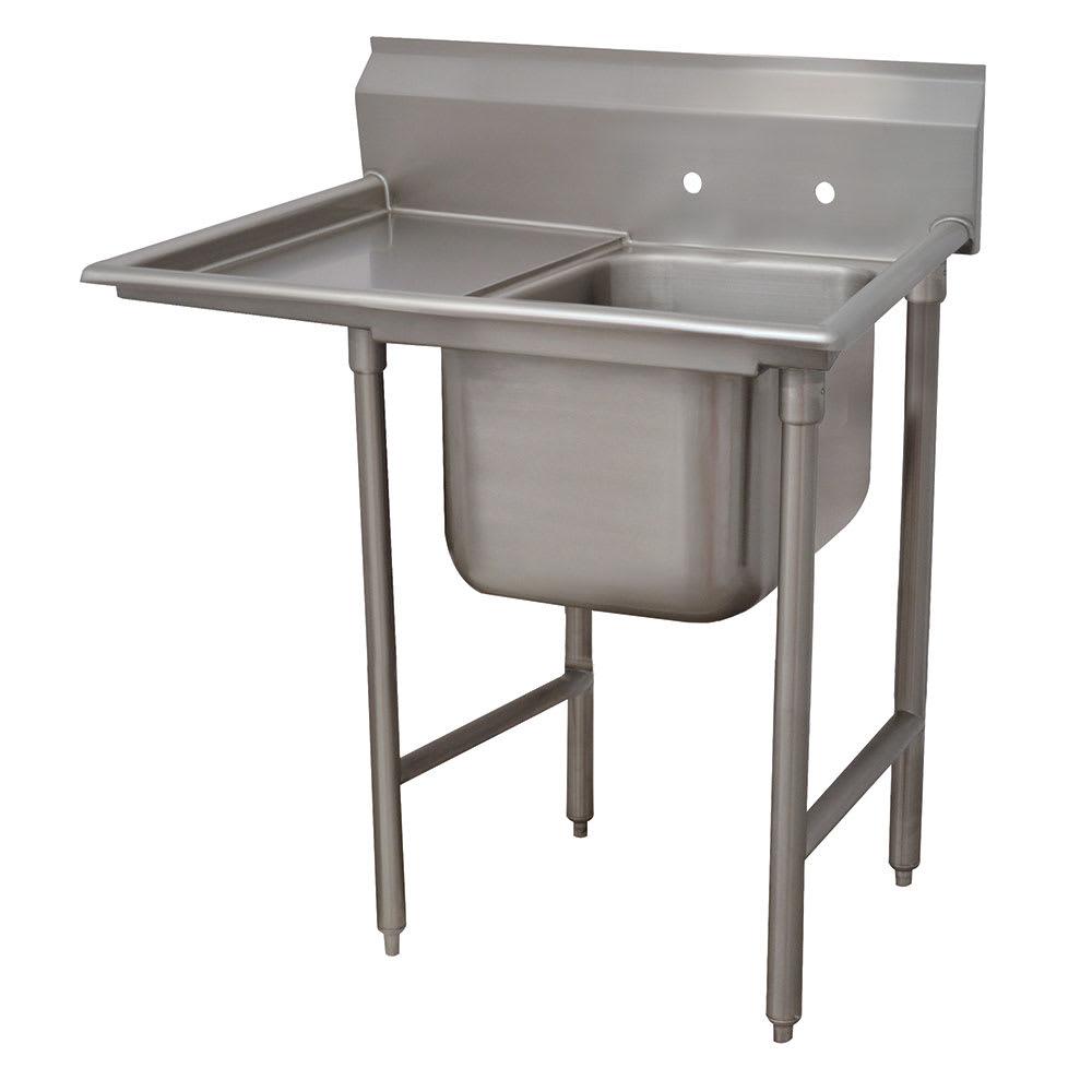 """Advance Tabco T9-1-24-18L-X 40"""" 1-Compartment Sink w/ 16""""L x 20""""W Bowl, 12"""" Deep"""