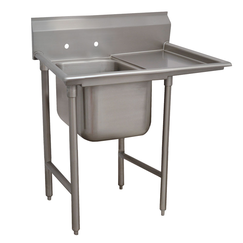 "Advance Tabco T9-1-24-18R-X 25"" 1-Compartment Sink w/ 16""L x 20""W Bowl, 12"" Deep"