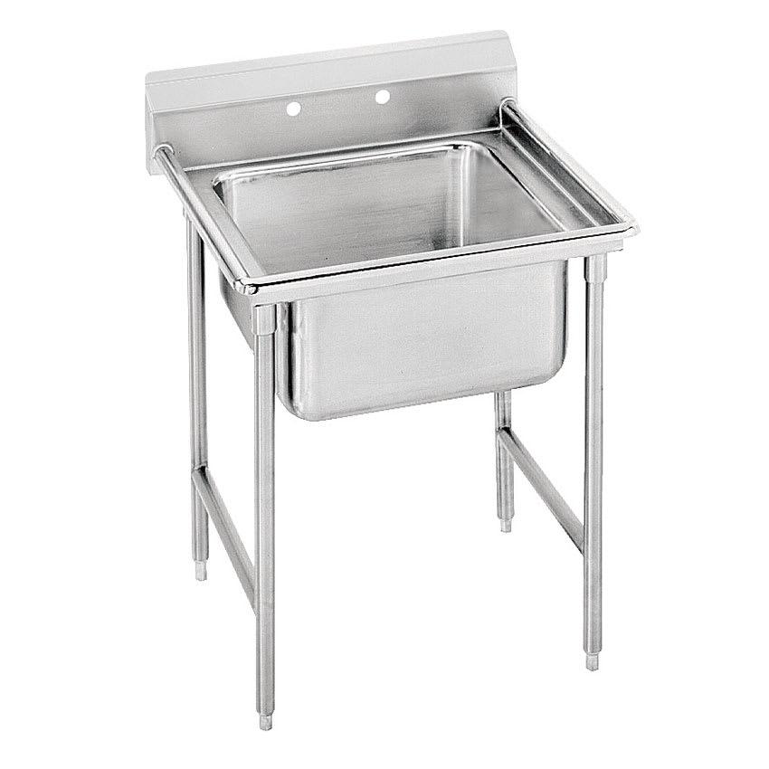 """Advance Tabco T9-1-24-X 40"""" 1-Compartment Sink w/ 16""""L x 20""""W Bowl, 12"""" Deep"""