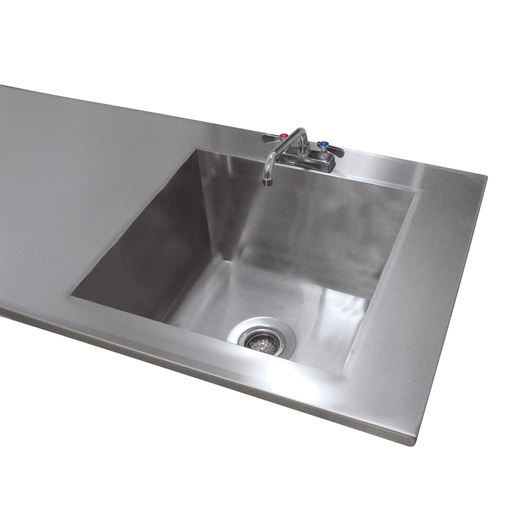 Advance Tabco TA-11A Sink Welded Into Table Top, 16x20x8