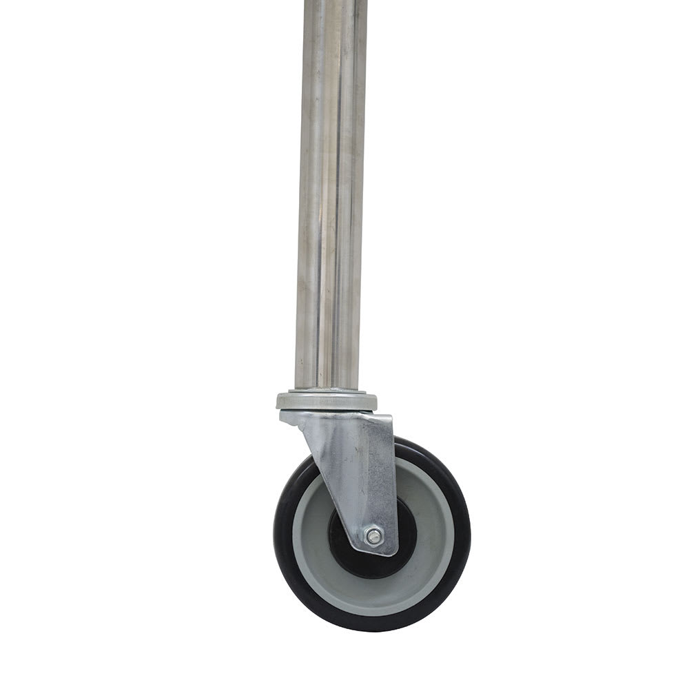 "Advance Tabco TA-25S-4 5"" Casters w/ Stainless Steel Legs, (2) w/ Brakes, Rubber Wheels"