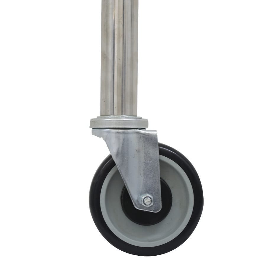 "Advance Tabco TA-25S-6 5"" Casters w/ Stainless Steel Legs for Work Tables"