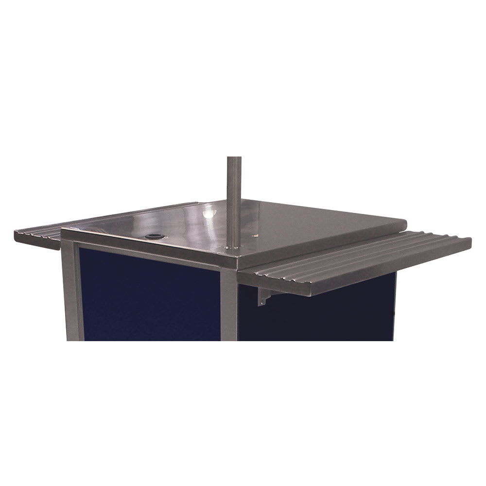 Advance Tabco TA-74 Fixed Soild Tray Slide, Front/Rear of Table (factory installed)