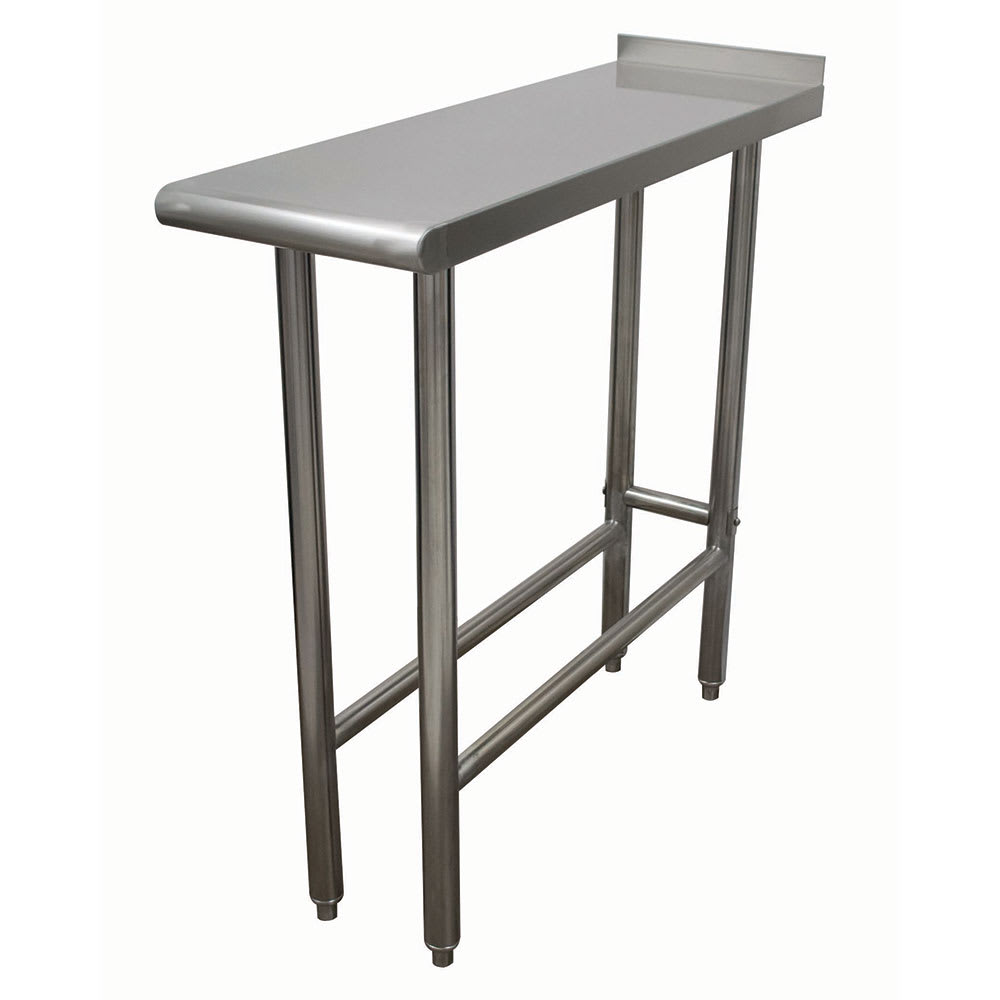Advance Tabco TFMS-183 Equipment Filler Table - Open Base, Rear Turn Up, 18x36