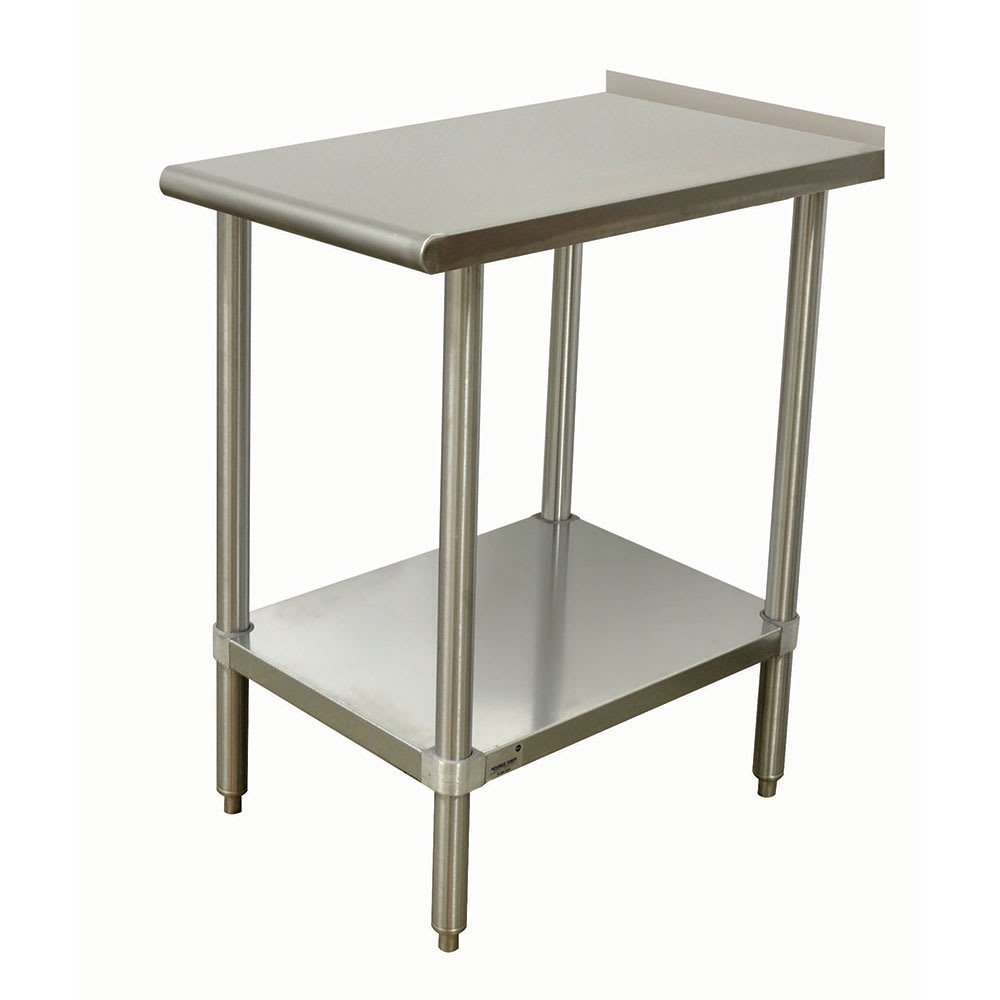 "Advance Tabco TFMSU-180 Equipment Filler Table - 18x30"", Undershelf, 1.5"" Turn Up In Rear, Stainless"