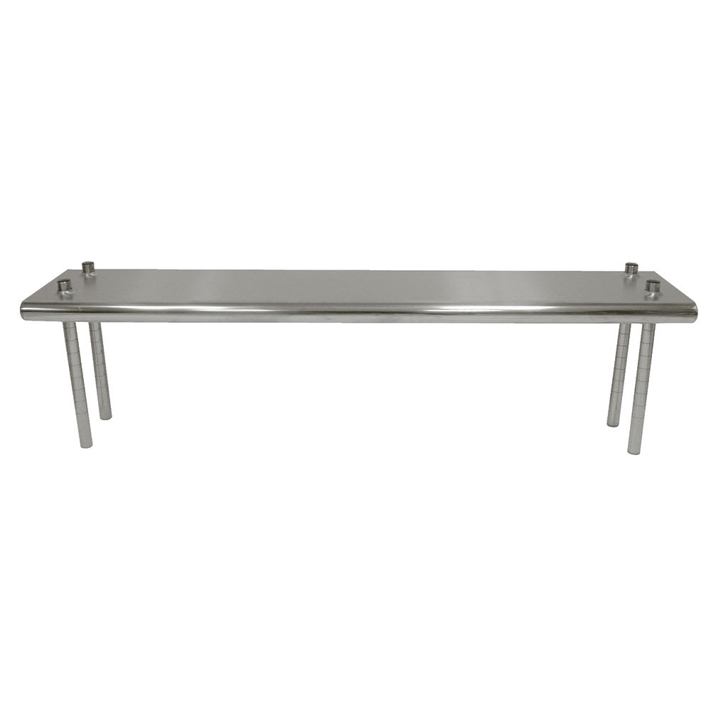 "Advance Tabco TS-12-108 Table Mount Shelf - Single Deck, 108x12"", 18-ga 430-Stainless"