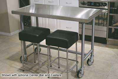 """Advance Tabco TSAG-246RE 72"""" Residential Chef Table - 24"""" W, 16-ga 430-Stainless"""