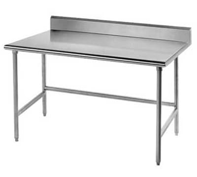 "Advance Tabco TSKG-245RE 60"" Residential Chef Table - 24"" W, 5"" Backsplash, 16-ga 430-Stainless"
