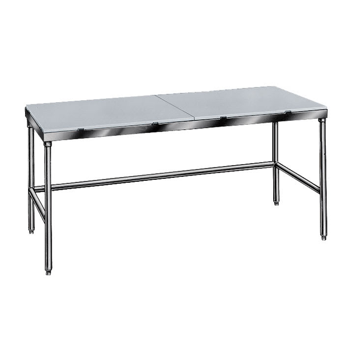 "Advance Tabco TSPT-306 72"" Poly Top Work Table w/  5/8"" Top, Stainless Base, 30""D"