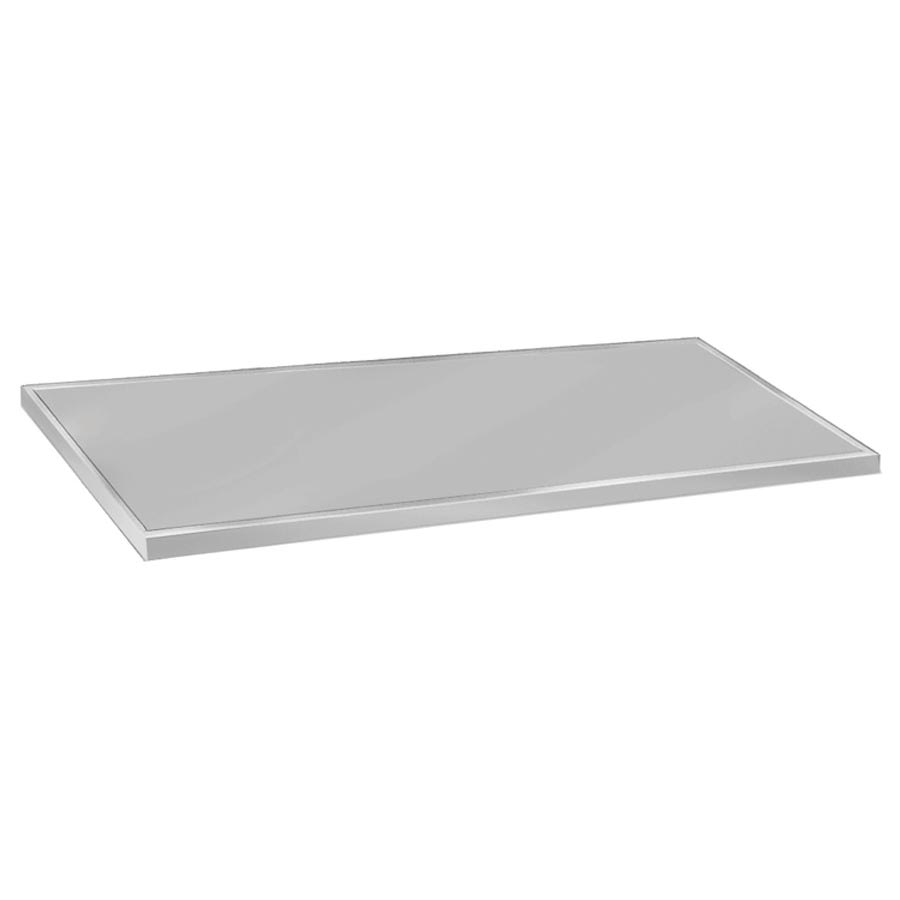"Advance Tabco VCTC-2410 Flat Countertop - 25x120"", 16-ga 304-Stainless, Satin Finish"